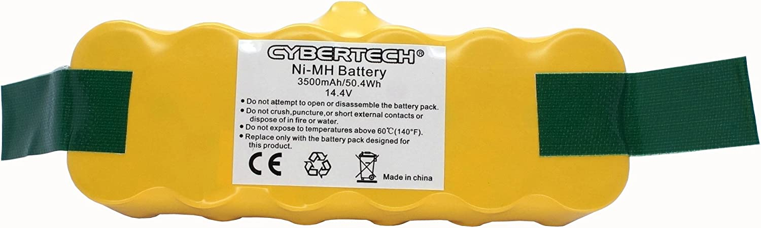 CyberTech Ni-Mh Replacement Battery for iRobot Roomba 500 Series 500 510 530 531 532 533 535 536 540 545 550 552 560 562 570 580 581 585 595 600 620 630 650 660 700 760 770 780 790 800 870 880