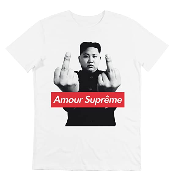 GL BOUTIK Shirt - Camiseta - Kim Jon Un - Amour Supreme - Supreme ... d1fd3c86d0f