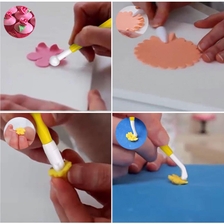 Philonext 84 Piezas DIY Sugarcraft Herramientas Galletas Moldes Alisadores y émbolos Modelado Alisador para Hornear Fondant Decoración de Pastel: Amazon.es: ...