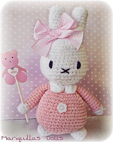 Muñeco Miffy de Mariquillas Dolls. Amigurumi hecho mano para ...