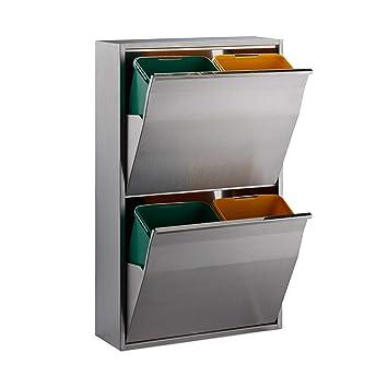 Amazon.de: Relaxdays 10023831 Mülltrennungssystem 4fach ...