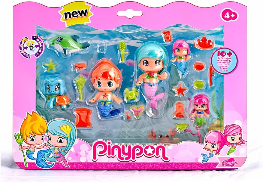 Amazon.es: Pinypon Sirenitas pack grande de 6 figuras (Famosa ...