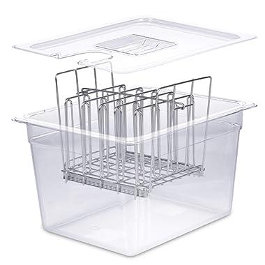 Väeske Sous Vide Container and Lid Set (12 Qt, Container/Rack+Lid)