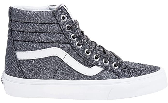 092ae14aa2  Vans SK8 Hi Lurex Glitter Black Womens Leather Trainers  Amazon.co.uk   Shoes   Bags