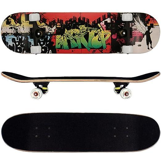 27 opinioni per FunTomia®- Skateboard con cuscinetti Mach1®- legno d'acero a 9 strati