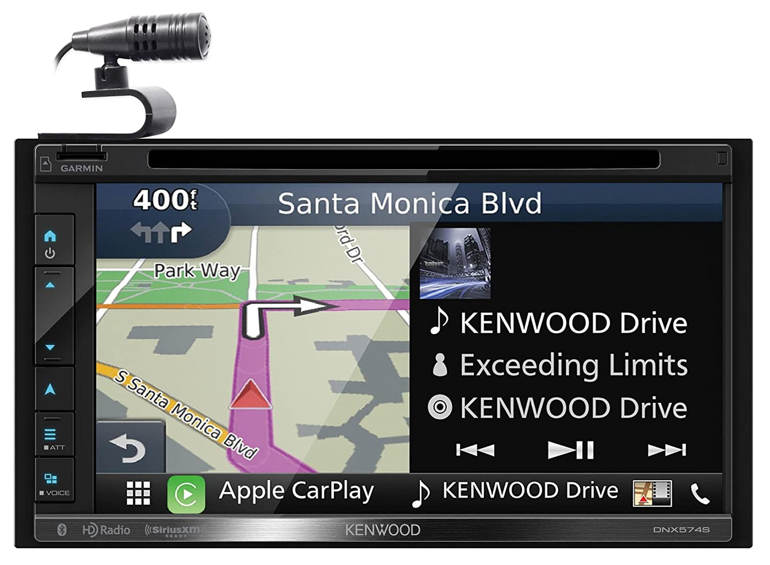 Kenwood DNX574S touch screen car stereo wih navigation review