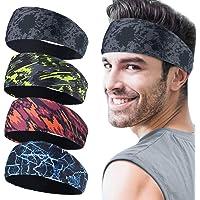 Juego de 4 cintas deportivas para hombre, cinta para el sudor deportiva para el transporte de la humedad, para correr…