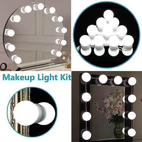 AIZESI - Juego de 10 bombillas de espejo retrovisor de maquillaje ...