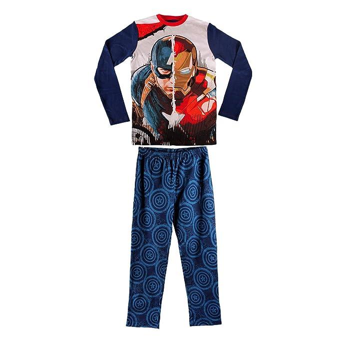 fe8438a1a 1723 Pijama de algodón para niños Motivo Iron-Man & Capitán América 6 a 12