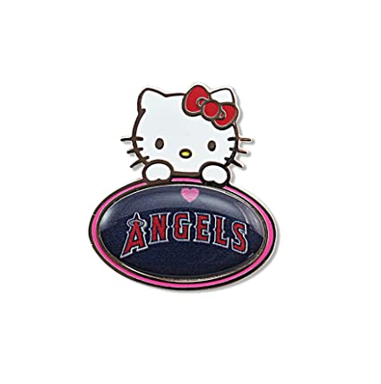 1ce154531 Amazon.com : MLB Los Angeles Angels Hello Kitty Peeking Pin : Sports &  Outdoors