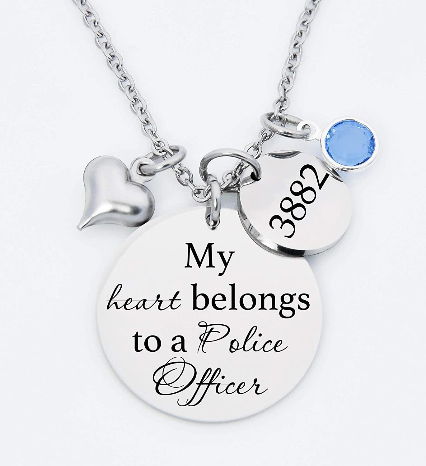 Gold-Silver-Rose Gold Charm Proud Wife Of A Police Officer Jewelry Supplies Personalized Charms Laser Engraved Charms