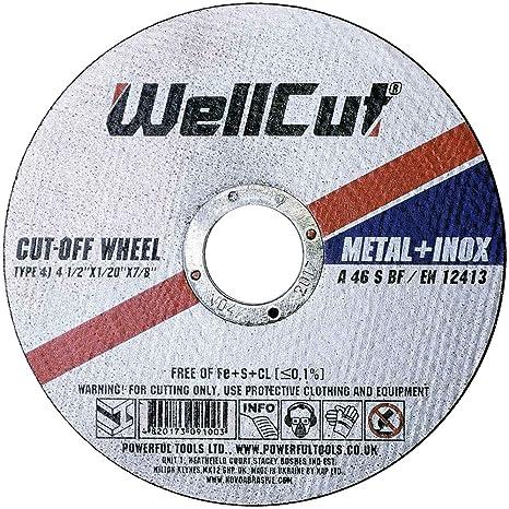 WELLCUT WCG2723060 - Disco de corte de metal (acero ...