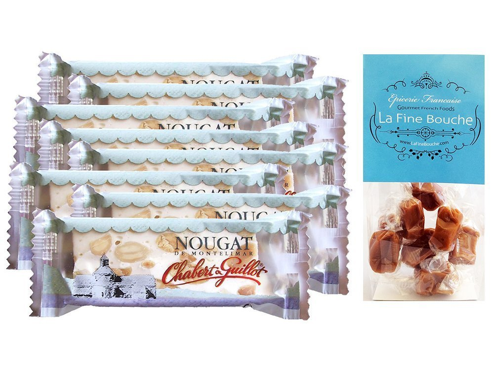 Chabert & Guillot White nougar bar 30 g soft nougat with almonds 1.06 oz - (12 PACK) by Chabert et Guillot