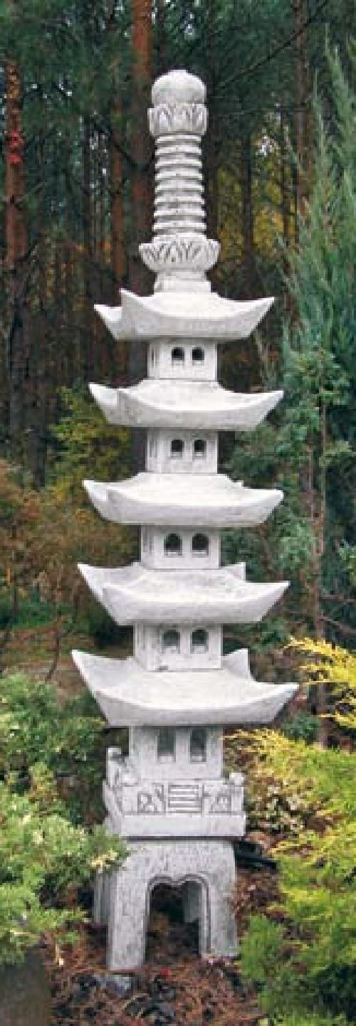 Pagoda (S614) japonés faroles Jardín Lámpara Jardín Luz piedra fundido 187 cm: Amazon.es: Jardín