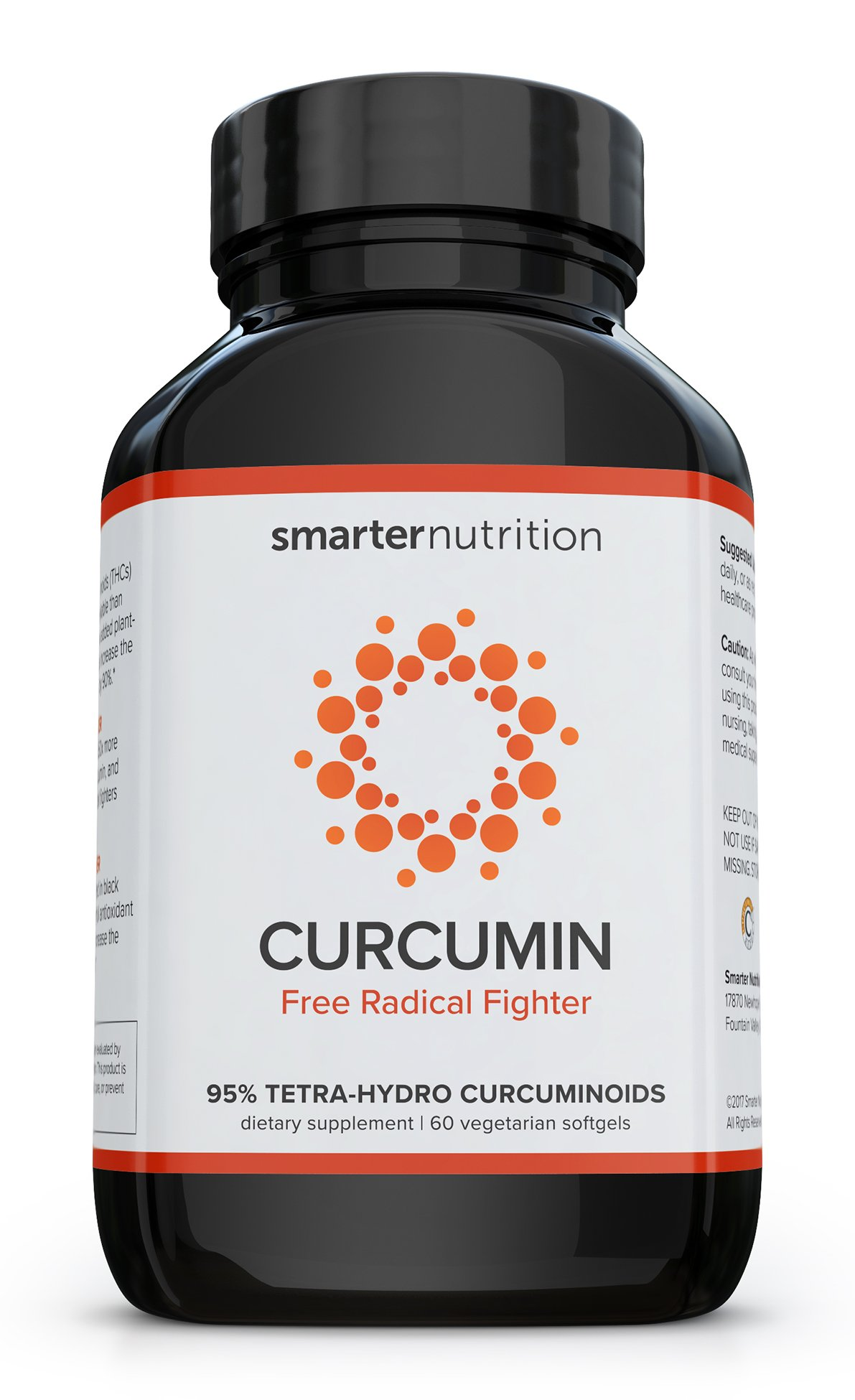 Smarter Turmeric Curcumin - Potency and Absorption in a SoftGel | The Most Active Form of Curcuminoid Found in the Turmeric Root | 95% Tetra-Hydro Curcuminoids (60 Count - 1 Month Supply) by SMARTERNUTRITION