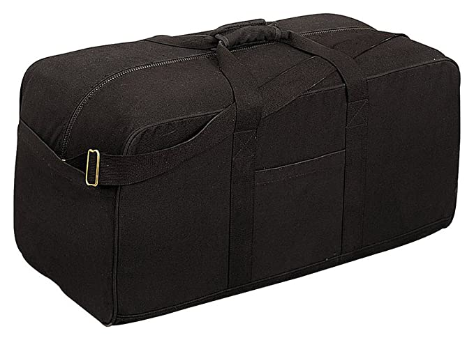 Rothco USA - Military Canvas Assault Cargo Bag - USA Military - Black Color - 8133 Industrial & Scientific at amazon