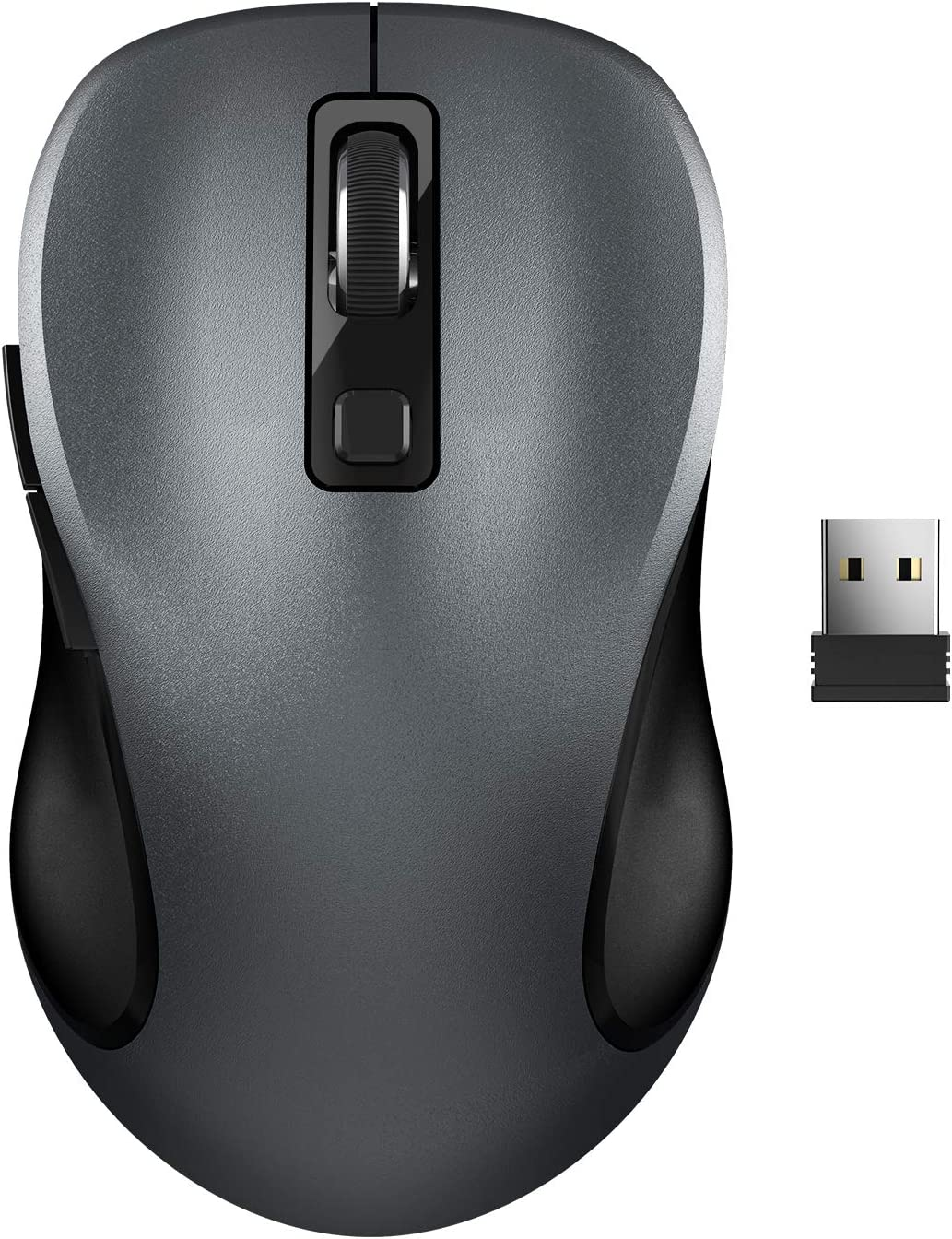 Wireless Mouse, RATEL 2.4G Wireless Ergonomic Mouse Computer Mouse Laptop Mouse USB Mouse 6 Buttons with Nano Receiver 3 Adjustable DPI Levels Cordless Wireless Mice for Windows, Mac(Black)
