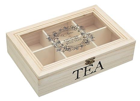 Amazon.com: 26 x 17 x 6 cm) Le Xpress – Caja de té de ...