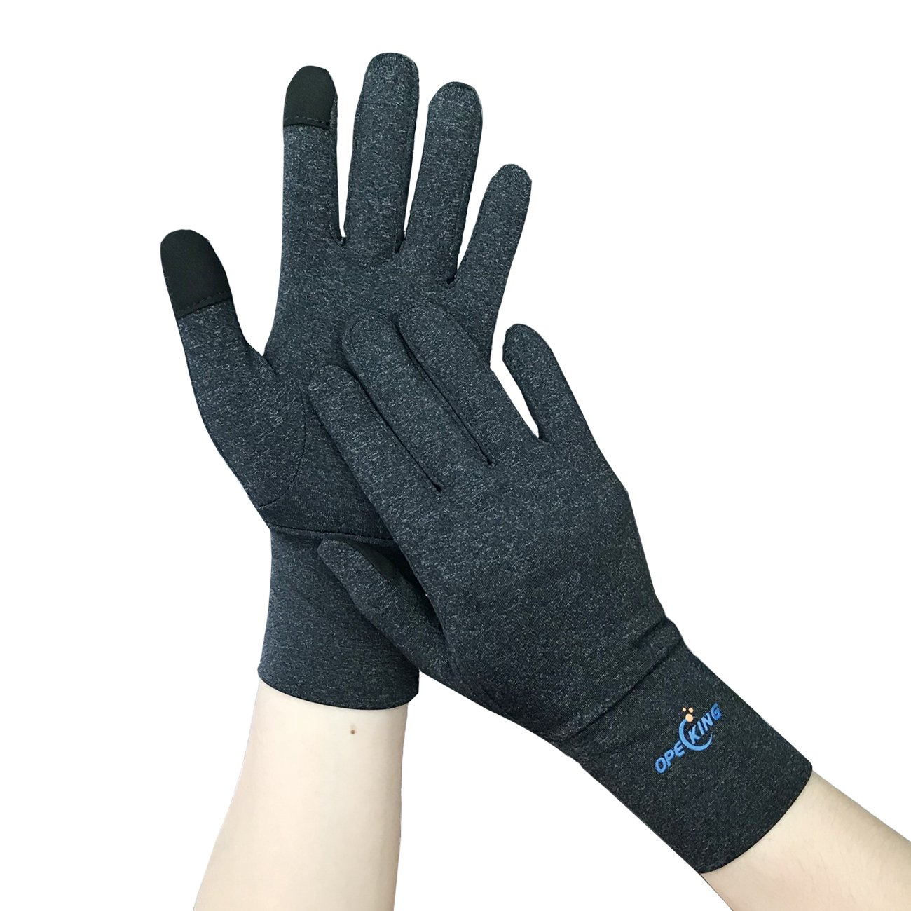 Compression Gloves Full Finger, Arthritis Gloves with Touch Screen for Typing, Relieve Joint Pain Symptoms Raynauds Disease & Carpal Tunnel - Medium