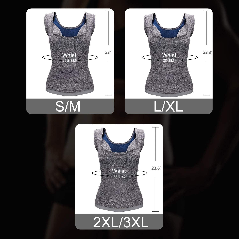 Hirdou Women Sauna Vest for Weight Loss Hot Neoprene Corset Waist Trainer Body Tank Top Sweat Shapewear Slimming Compression Fitness Workout Sauna Suit