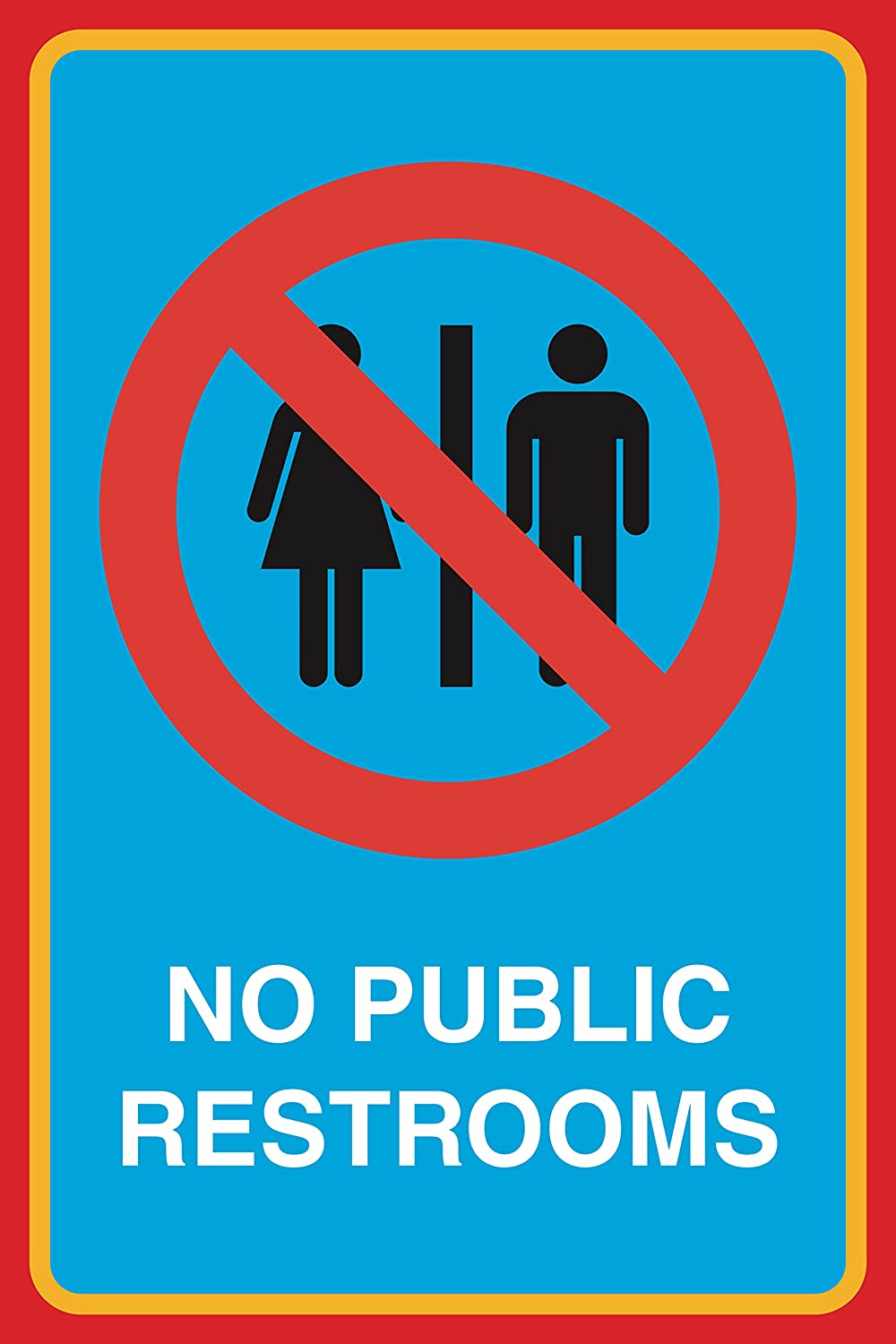 No Public Restrooms Print Picture Bathroom Restroom Office Business Sign