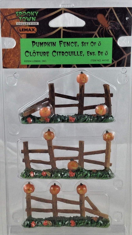 Lemax Spooky Town Pumpkin Fence Set of 3 .#44142
