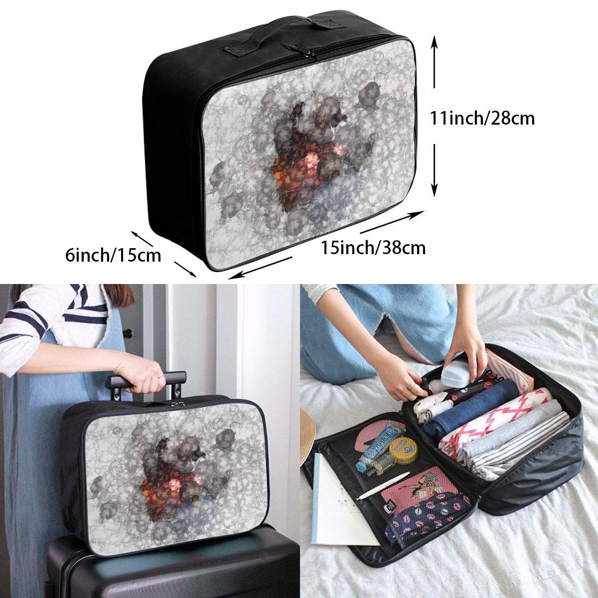 Travel Luggage Duffle Bag Lightweight Portable Handbag Explosion Large Capacity Waterproof Foldable Storage Tote