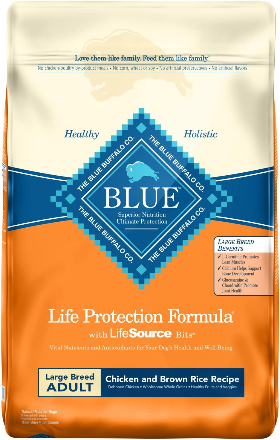 7. Blue Buffalo Life Protection Formula Large Breed