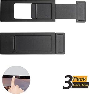 Dcreate Laptop Webcam Cover Slide - Slim Web Camera Blocker for Laptops, Apple Macbook, Mac, Lenovo, Hp, Webcam Privacy, Camera Hider, Improved 3M Adhesive, 0.035 Inch