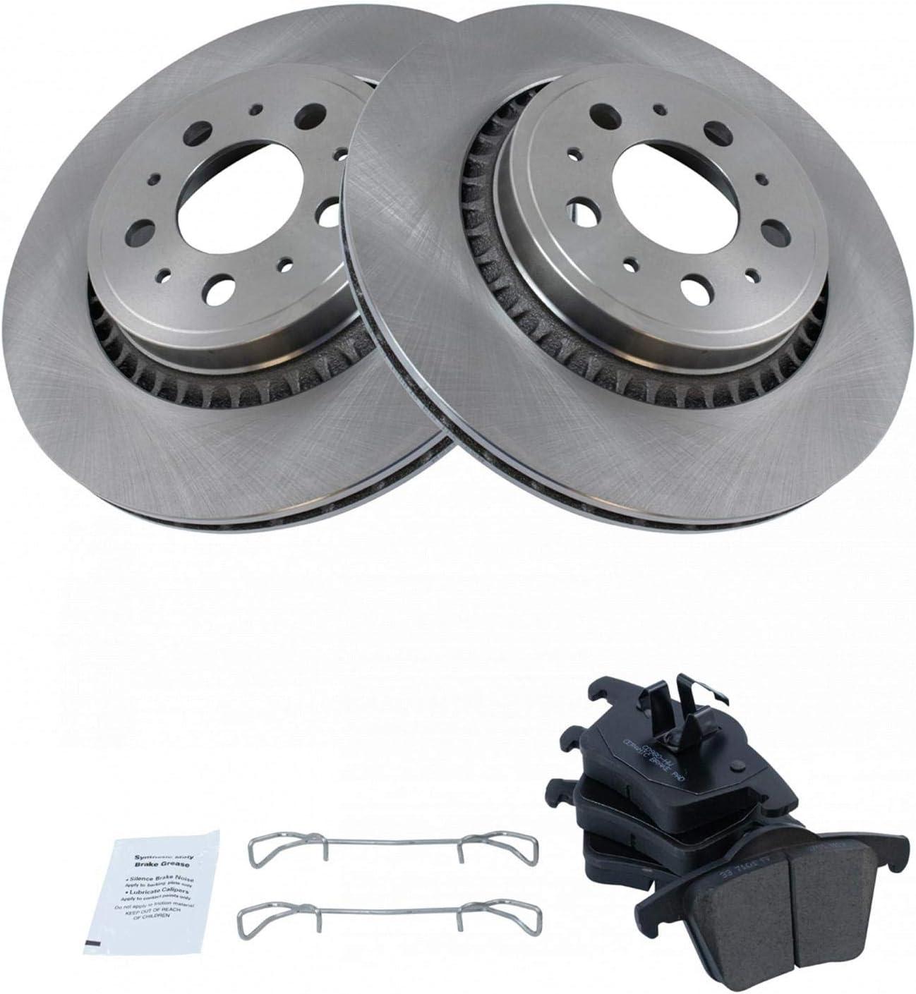 Rear Premium Posi Ceramic Brake Pad /& Rotor Kit for Volvo XC90 SUV