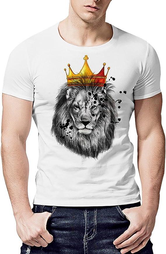Camiseta de Hombre, Rey León Camiseta Cool Boy Plus Camiseta de ...