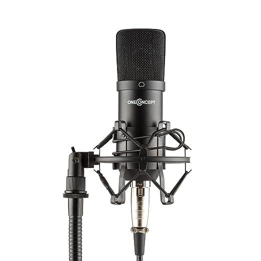 3 opinioni per oneConcept Mic-700 Microfono Studio A Condensatore con stativo a Ragno (Ø34mm,