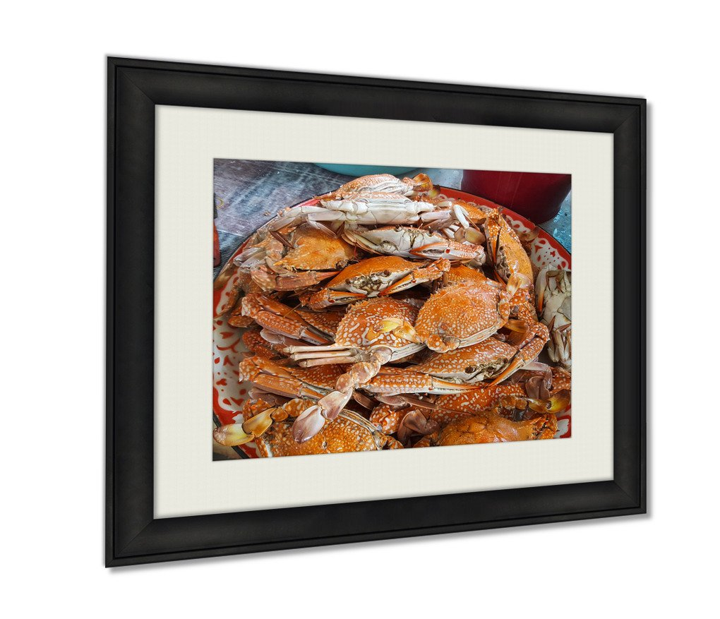 Ashley Framed Prints Many Of Steamed Crab On The Tray Art photography interior design artwork framed office 24x30 art