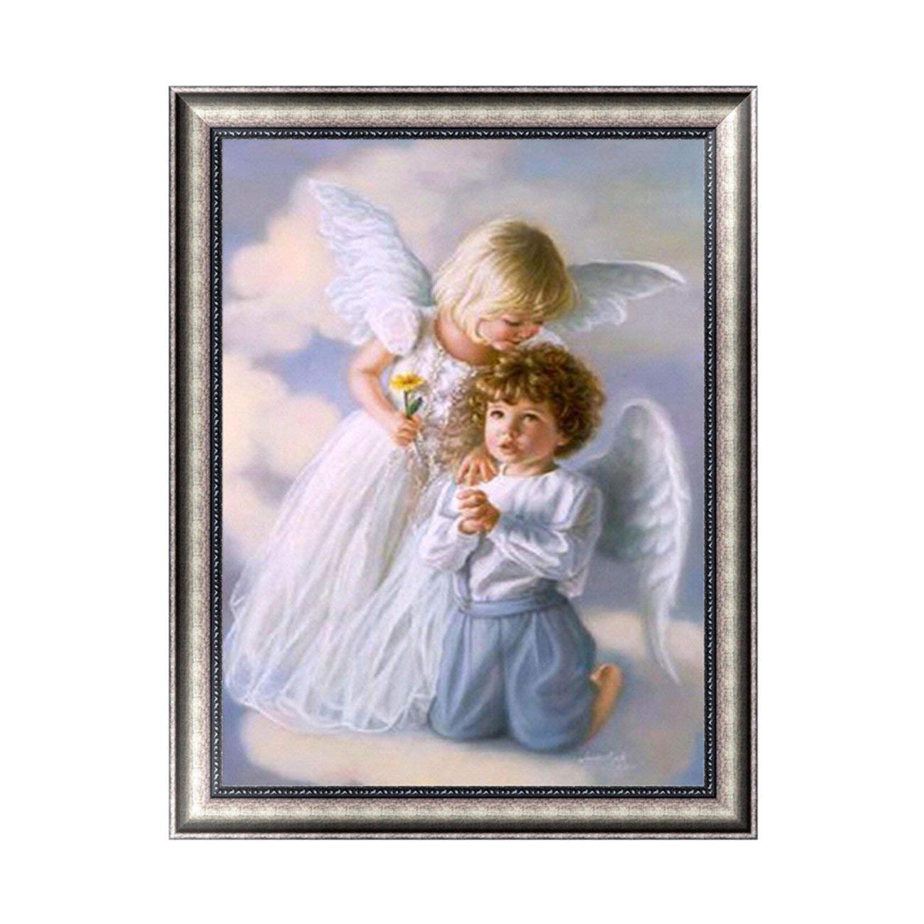 Elviray DIY 5D Diamond Painting Angel Pattern Cross Stitch Craft Embroidery Painting Fashion Wall Decor for Home Room