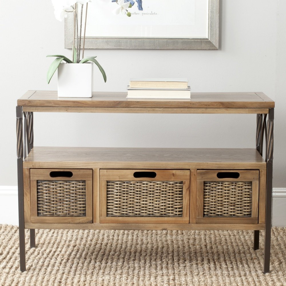 Amazon safavieh american home collection joshua antique amazon safavieh american home collection joshua antique pewter and oak console table kitchen dining geotapseo Images