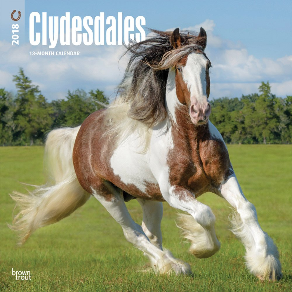 Read Online Clydesdales 2018 12 x 12 Inch Monthly Square Wall Calendar, Animals Horses (Multilingual Edition) ebook
