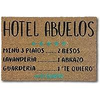 koko doormats felpudos Entrada casa Originales, Fibra de Coco y PVC, Felpudo Exterior Hotel Abuelos, 40x60x1.5 cm…