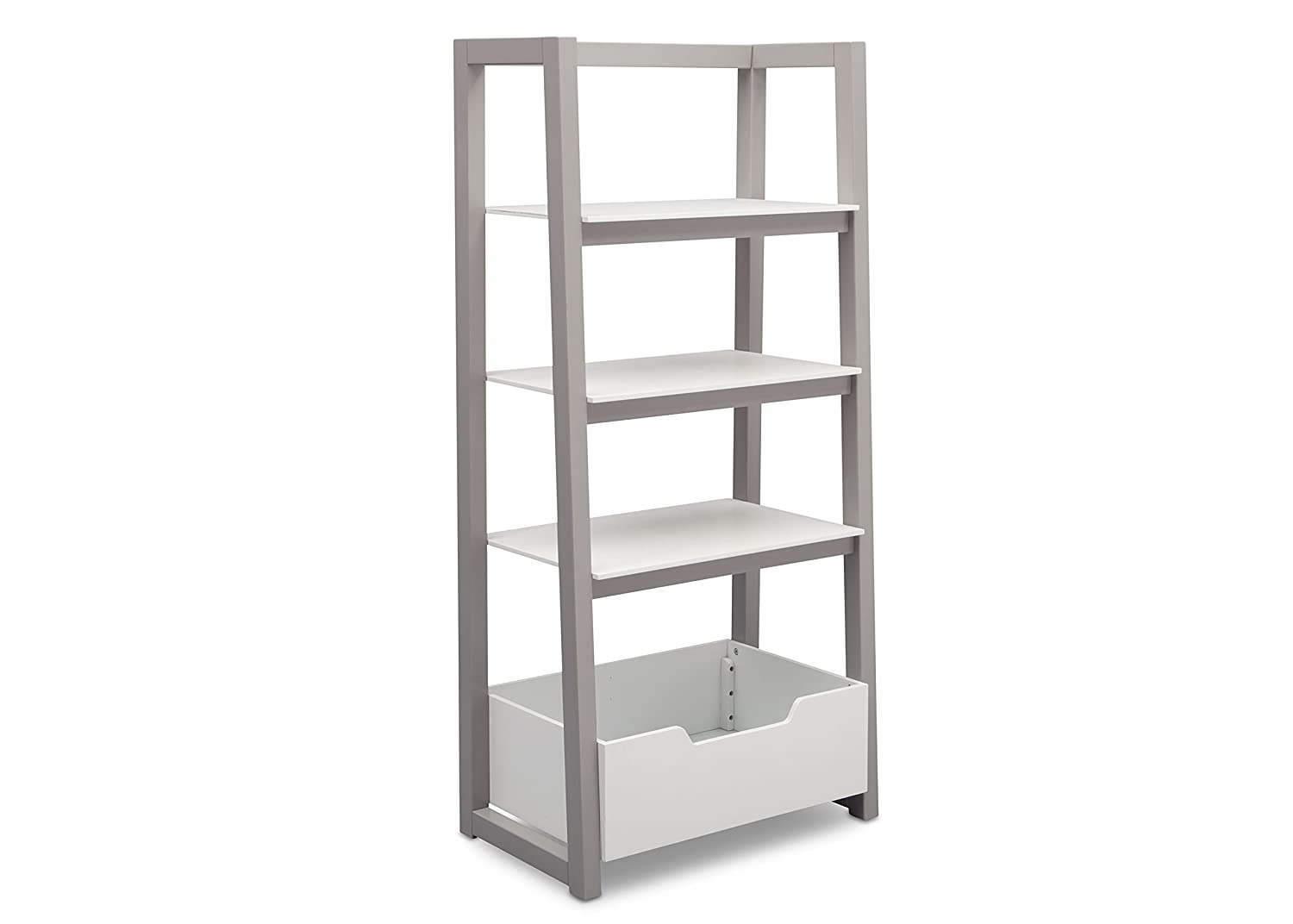 Delta Children Ladder Shelf, White/Grey