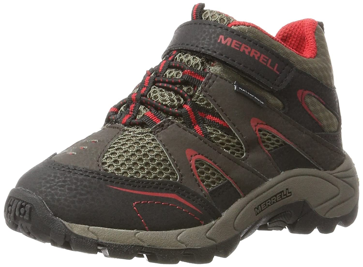 Merrell Hilltop Quick Close Waterproof Hiking Boot (Little Kid) HILLTOP Quick Close WTRPF - K