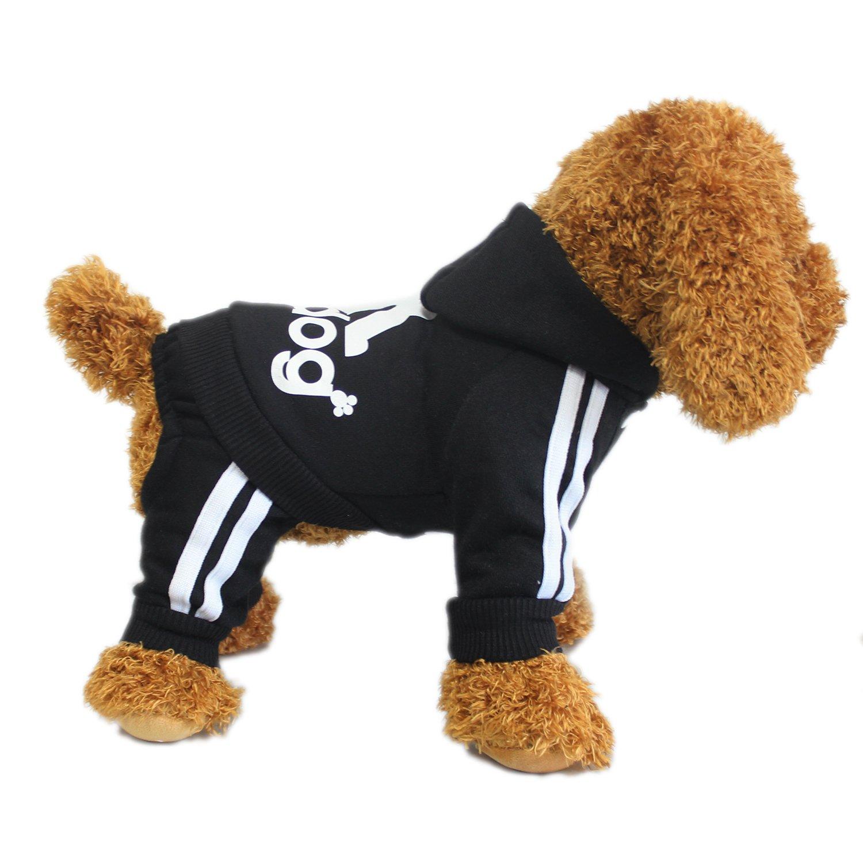 Pet Costume Ropa Para Perros Perrito Sudadera Con Capucha Pullover Negro X-Large Animales Ropa