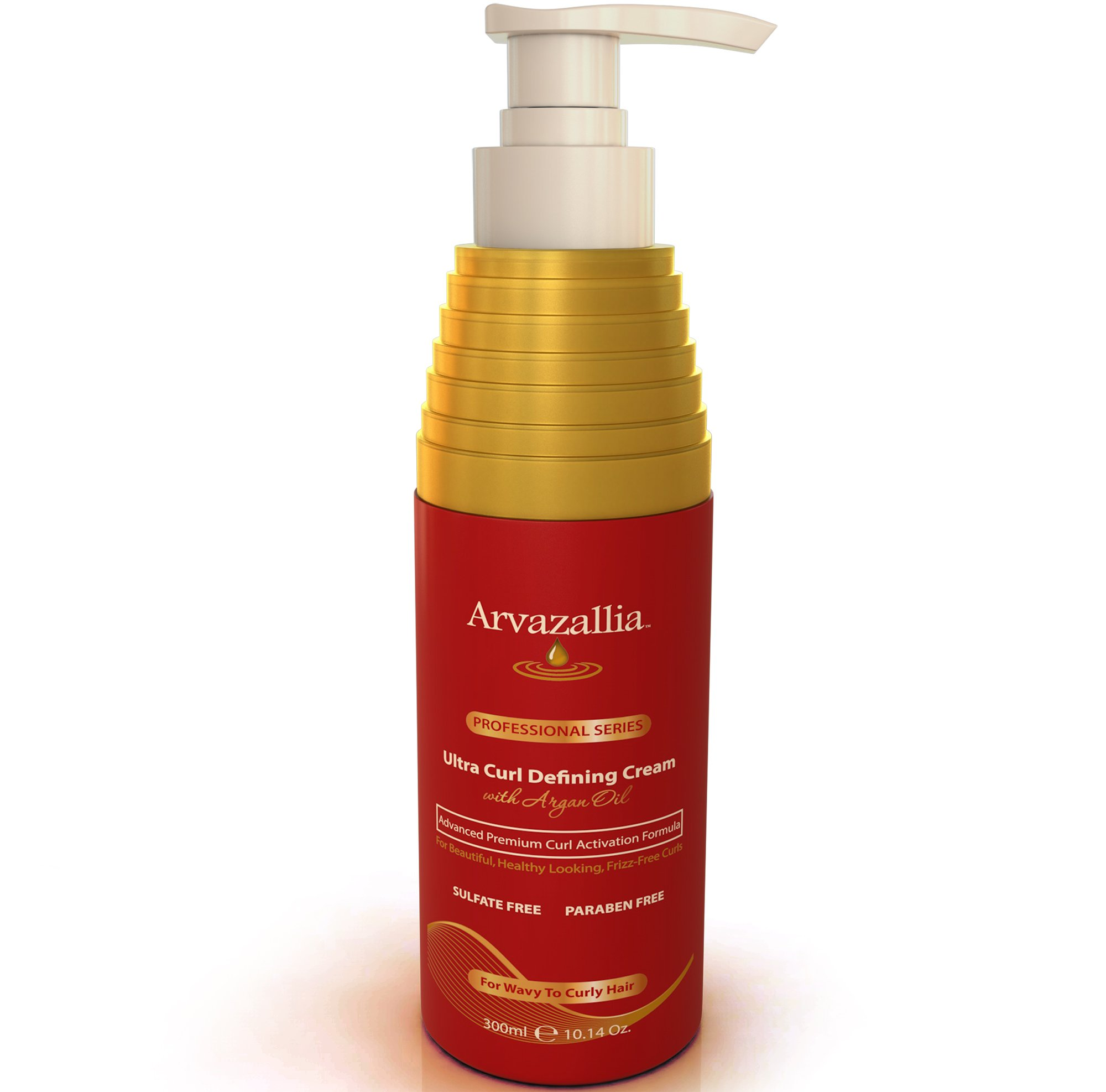 Ultra Curl Defining Cream with Argan Oil By Arvazallia for Wavy and Curly Hair