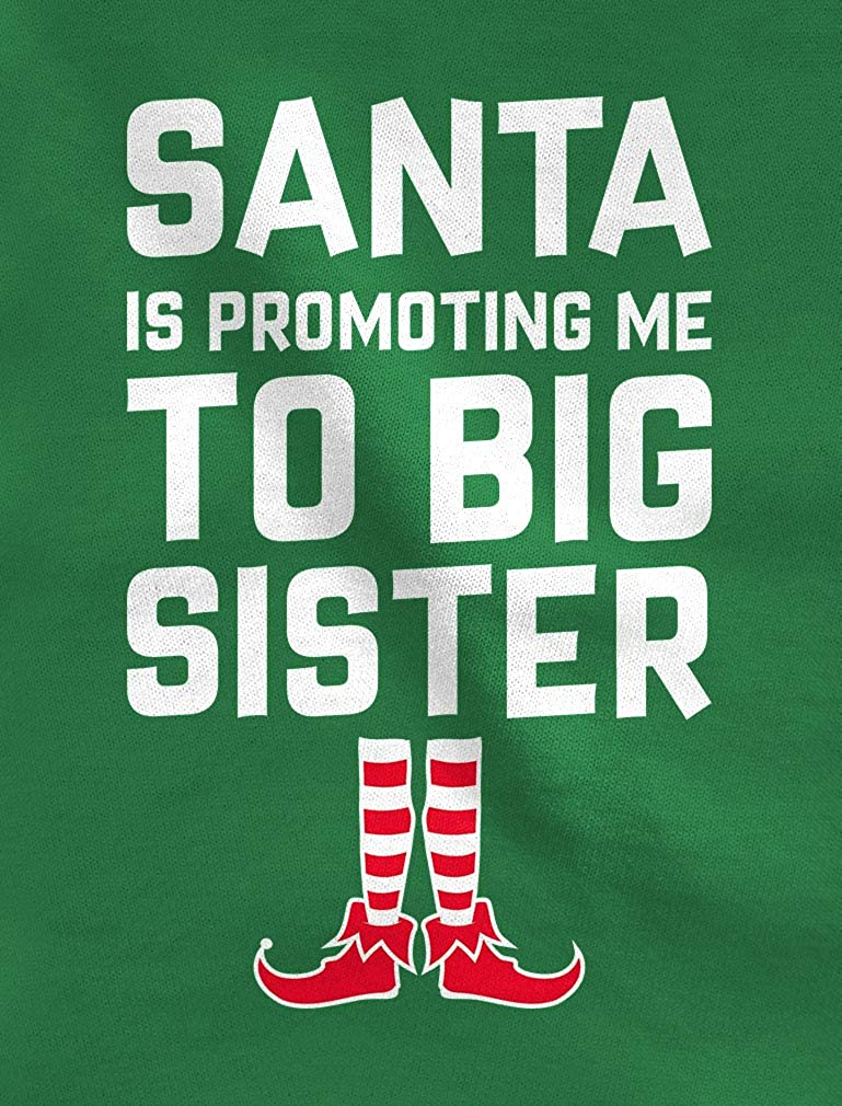 Santa is Promoting to Big Sister Christmas Toddler//Kids Long Sleeve T-Shirt