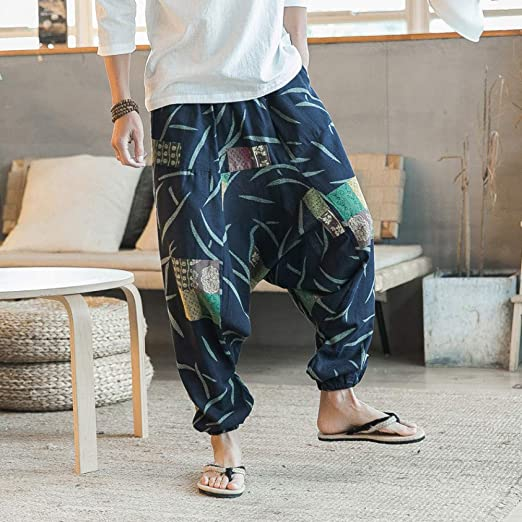 NSYJKPantaloni da yogaHombres Pantalones de Yoga Harem Pierna ...