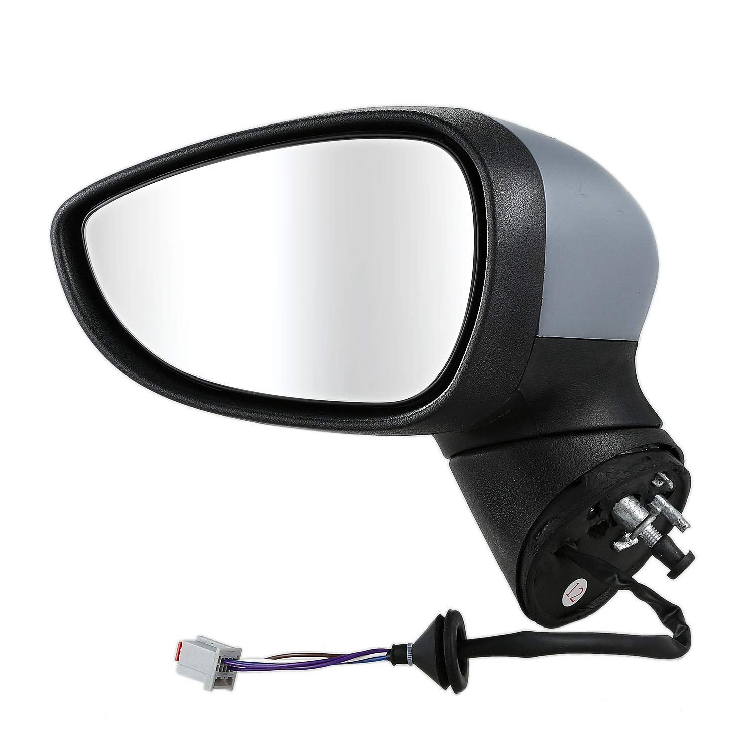 Cikuso For Ford Fiesta Mk7 2008-2012 Electric Wing Mirror Primed Left Passenger Side N//S