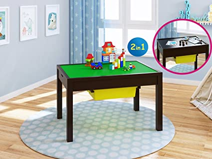 Amazoncom Utex 2 In 1 Kid Activity Table With Storage Compartment