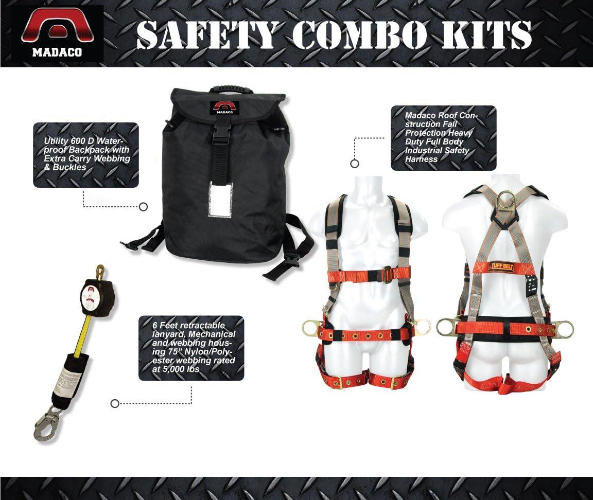 Madaco Safety Products Kit de Seguridad Industrial de Cuerpo ...