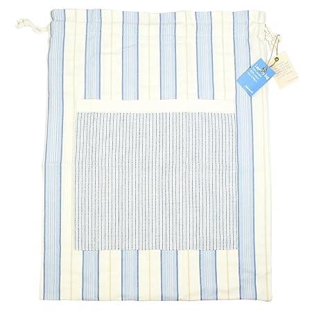 698bed4a9aa Coastal Stripe 100% Cotton Laundry Bag  Amazon.co.uk  Kitchen   Home