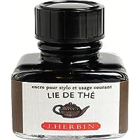 J. Herbin 13044T Tinte (geeignet für Füller) 30 ml, teebraun