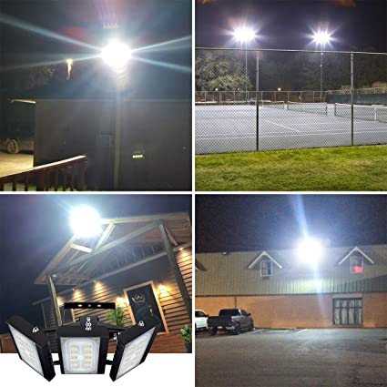 CHICLUX 150W Luz LED para exteriores para garaje, 13500 LM, reflector de seguridad 6000 K (Luz Blanca del Día), foco ajustable de para granero, jardín, patio: Amazon.es: Iluminación