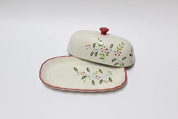 Amazon.com: Lonovel - Mantequera con tapa de porcelana ...